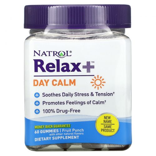 Natrol, Relaxia, Day Calm, Fruit Punch,  60 Gummies