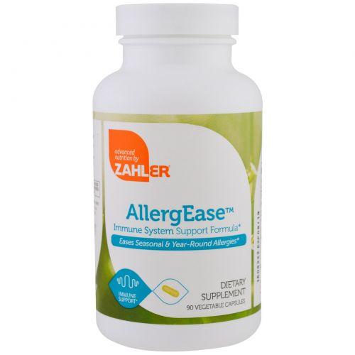 Zahler, AllergEase, формула поддержки иммунитета, 90 растительных капсул