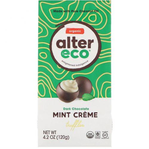 Alter Eco, Органический шоколад, темные мятные трюфели, темный шоколад, 4,2 унции (120 г)