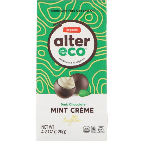 Alter Eco, Organic Mint Creme Truffles, Dark Chocolate, 4.2 oz (120 g)