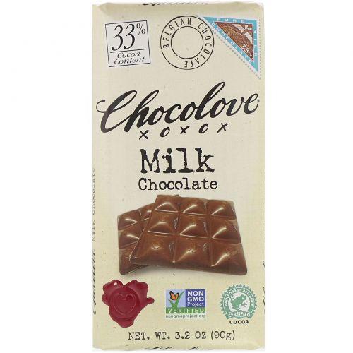 Chocolove, Молочный шоколад, 3.2 унций (90 г)