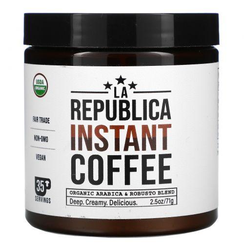 LA Republica, Instant Coffee, Organic Arabica & Robusto Blend, 2.05 oz (71 g)
