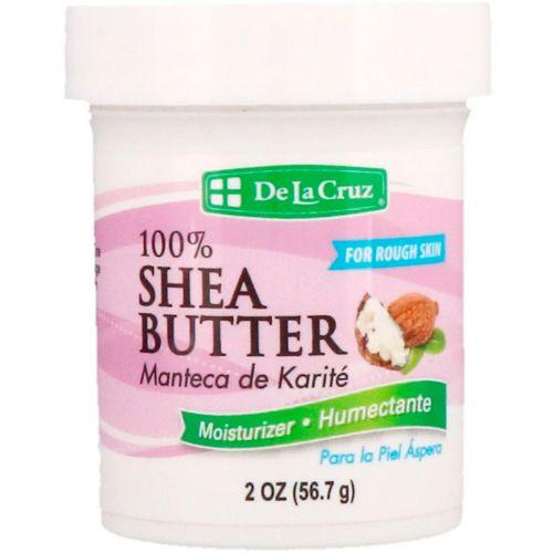 De La Cruz, 100% масло ши, увлажняющий крем, 2 унции (56,7 г)