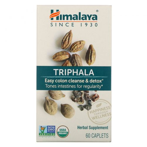 Himalaya Herbal Healthcare, Трифала, 60 каплет