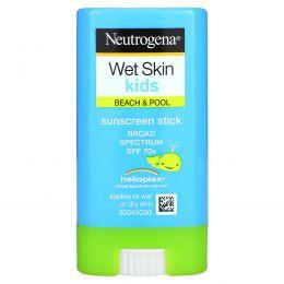Neutrogena, Wet Skin Kids, твердое средство для загара, SPF 70+, 13 г