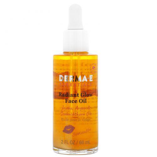 Derma E, SunKiss Alba, масло для красивого сияния на лице, жожоба, аргановое и облепиховое масла, 2 ж. унц. (60 мл)
