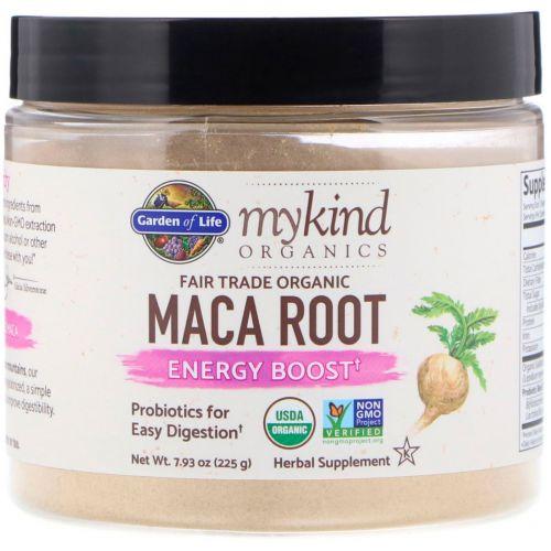 Garden of Life, MyKind Organics, корень маки, органический продукт, Справедливая торговля, повышает уровень энергии, 7,93 унц. (225 г)