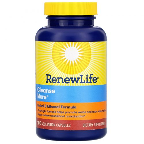 Renew Life, CleanseMore, 100 вегетарианских капсул