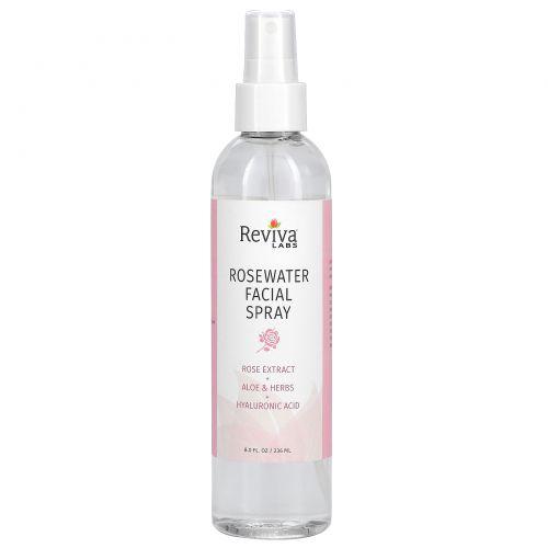 Reviva Labs, Спрей для лица с розовой водой, для нормальной и сухой кожи, 8 унции (236 мл)