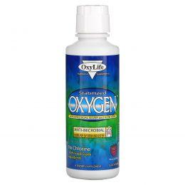 OxyLife, Стабилизированный кислород с коллоидным серебром и алоэ вера, со вкусом горных ягод, 16 унций (473 мл)