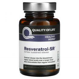 Quality of Life Labs, Ресвератрол-SR, 150 мг, 30 вегетарианских капсул