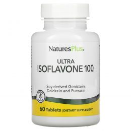Nature's Plus, Ультра изофлавон 100, 60 вегетарианских капсул