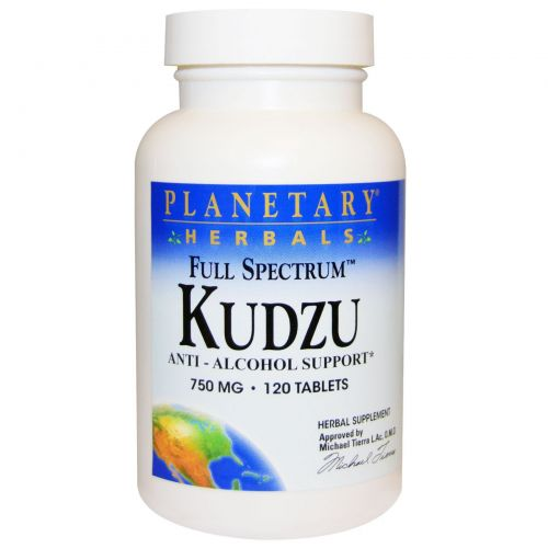 Planetary Herbals, Полный спектр, кудзу (пуэрария дольчатая), 750 мг, 120 таблеток