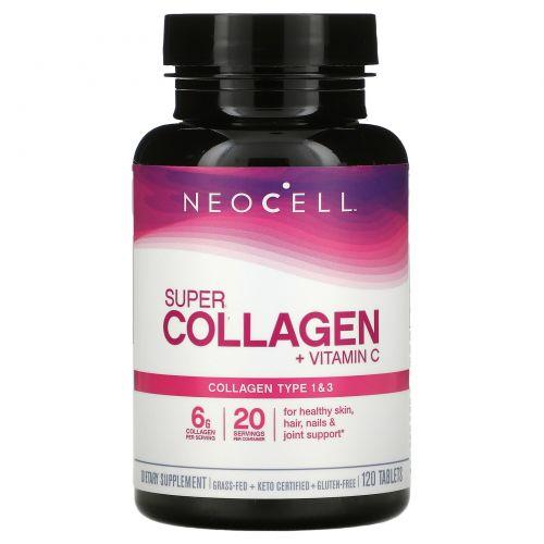 Neocell, Супер коллаген+C, Типы 1 и 3, 6,000 мг, 120 таблеток