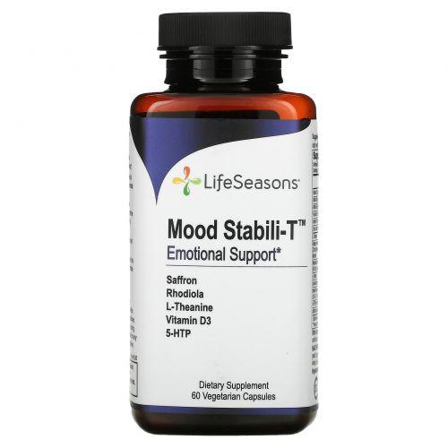 LifeSeasons, Эмоциональная поддержка Mood Uplift-R, 60 вегетарианских капсул