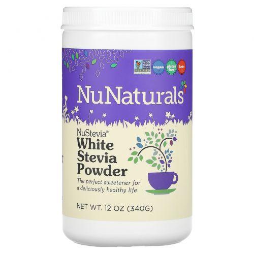 NuNaturals, NuStevia Белый порошок стевии, 12 унций (340 г)