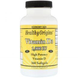 Healthy Origins, Витамин D3, 1000 МЕ, 360 гелевых капсул