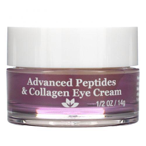 Derma E, Усовершенствованный крем для кожи вокруг глаз с пептидами и коллагеном, 1/2 унц. (14 г)