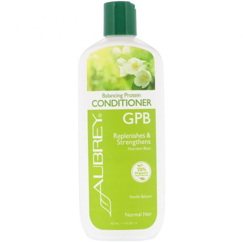 Aubrey Organics, GPB, Balancing Protein Conditioner, Normal Hair, Vanilla Balsam, 11 fl oz (325 ml)