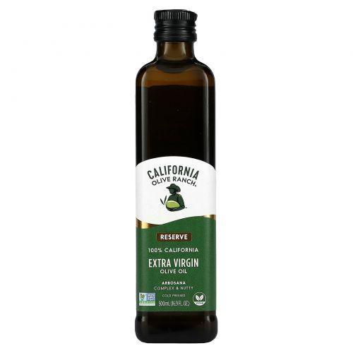California Olive Ranch, Arbosana, оливковое масло холодного отжима, 16,9 жидких унций (500 мл)