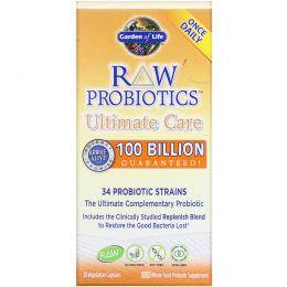 Garden of Life, Сырые пробиотики для наилучшей поддержки, 30 капсул на растительной основе (Ice)