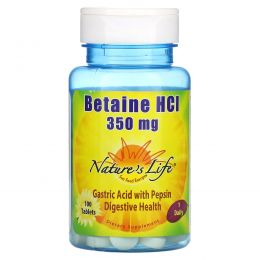 Nature's Life, Betaine HCI, 350 mg, 100 Tablets
