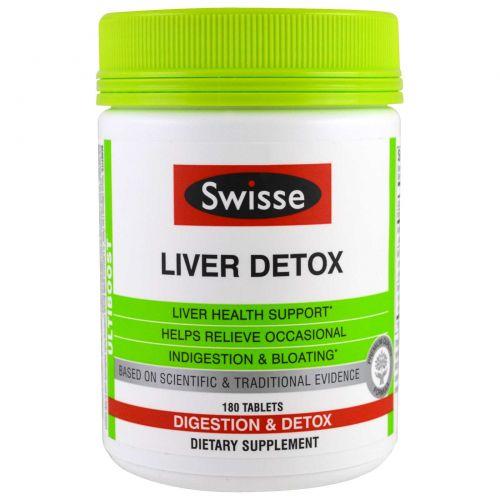 Swisse, Ultiboost, Liver Detox, Digestion & Detox, 180 Tablets