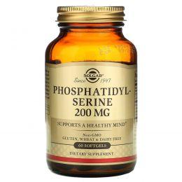 Solgar, Фосфатидилсерин, 200 мг, 60 мягких капсул