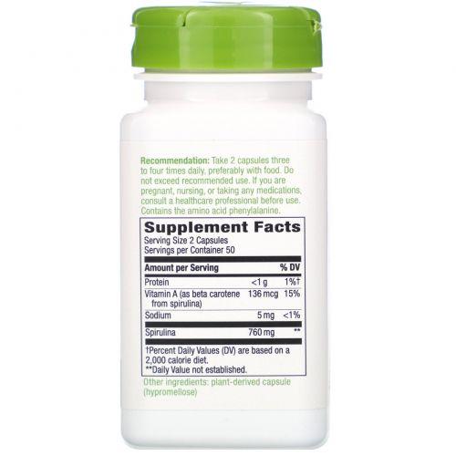 Nature's Way, Микроводоросль спирулина, 380 мг, 100 капсул