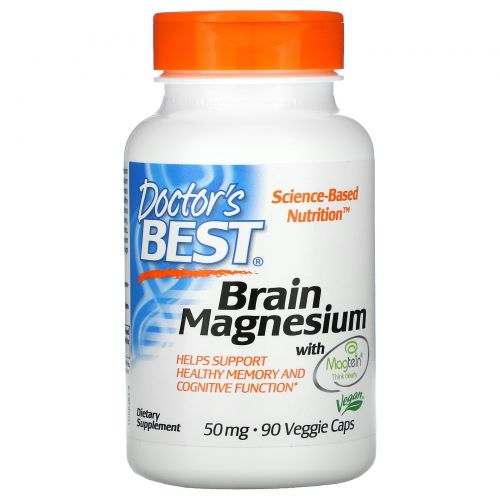 Doctor's Best, Магний для мозга, содержит Magtein, 50 мг, 90 вегетарианские капсулы