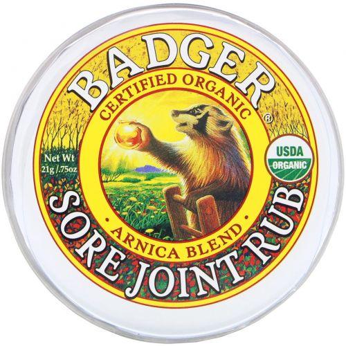 Badger Company, Крем от боли в суставах, экстракт арники, 21 г (0,75 унции)