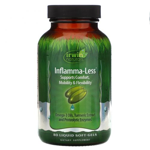 Irwin Naturals, Inflamma-Less, 80 гелевых капсул