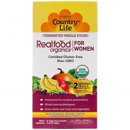 Country Life, RealFood Organics, ежедневное питание для женщин, 120 таблеток