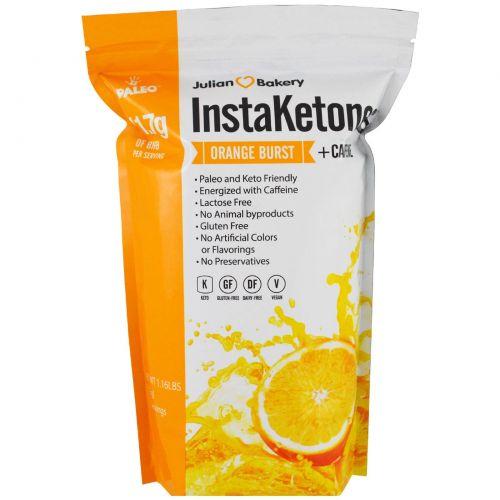 The Julian Bakery, InstaKetones, Апельсиновый взрыв + кофеин, 1,16 фунтов (525 г)