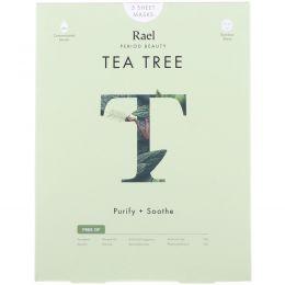 Rael, Тканевые маски с маслом чайного дерева, 5 салфеток