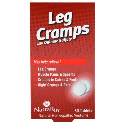 NatraBio, Препарат от судорог в ногах с сульфатом хинина, 60 таблеток