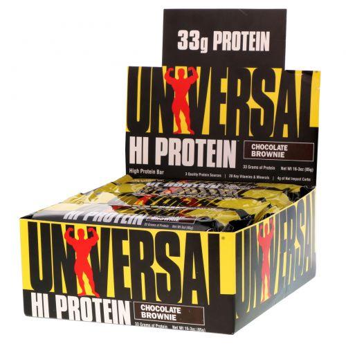 Universal Nutrition, Батончики с высоким содержанием белка, шоколадное печенье, 16 батончиков, 3 унции (85 г) каждый