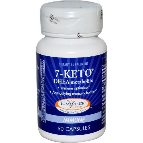 Enzymatic Therapy, 7-KETO, метаболит Дегидроэпиандростерона, 60 капсул