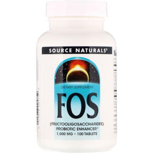 Source Naturals, FOS (фруктоолигосахариды), 100 таблеток
