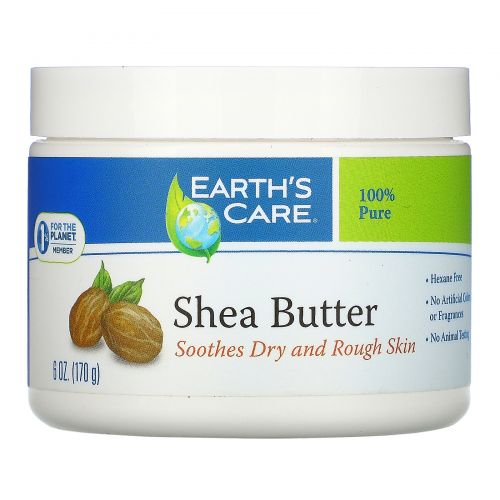 Earth's Care, Масло ши, на 100% чистое, 6 унций (170 г)