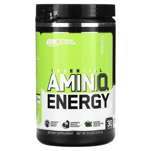 Optimum Nutrition, Essential Amino Energy, Green Apple, 0.6 lbs, 30 servings