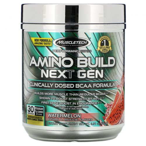 Muscletech, Amino Build Next Gen, Watermelon, 9.74 oz (276 g)