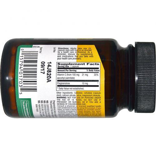 Country Life, Прегненолон, 10 мг, 60 капсул в растительной оболочке