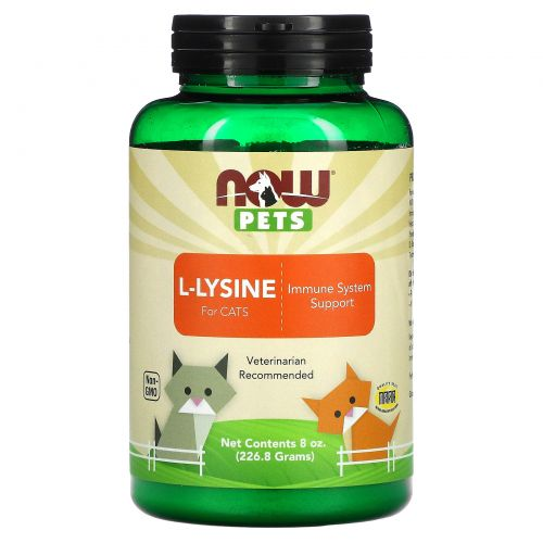 Now Foods, Now Pets, L-лизин для кошек, 8 oz (226,8 г)