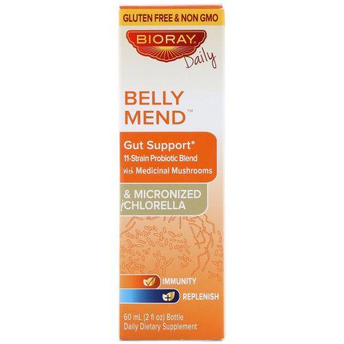 Bioray, Belly Mend, добавка для нормализации функций желудочно-кишечного тракта, без спирта, 60мл