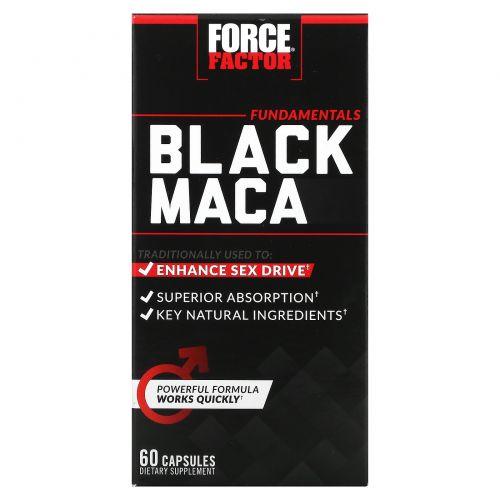 Force Factor, черная мака,1000мг, 60капсул