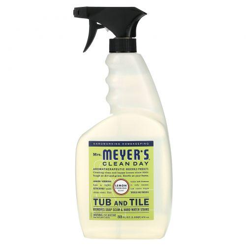 Mrs. Meyers Clean Day, Средство для чистки ванн и кафеля с запахом лимона и вербены, 33 жидк. унц. (976 мл)