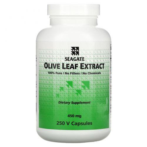 Seagate, Экстракт листа оливы, 450 мг, 250 капсул на растительной основе