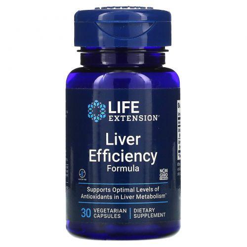 Life Extension, Liver Efficiency Formula, 30 растительных капсул