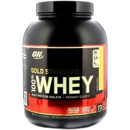 Optimum Nutrition, 100% Whey Gold Standard, со вкусом банана, 5 фунтов (2,27 кг)